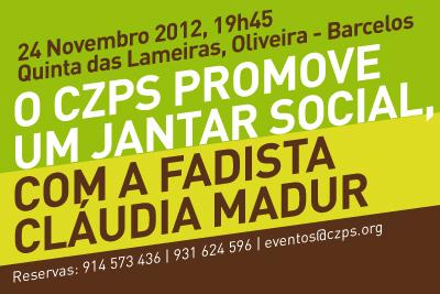 O CZPS promove um Jantar Social.